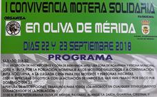 Convivencia motera solidaria en Oliva de Mérida