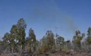 Desactivado el nivel 1 de peligrosidad en el incendio de Sagrajas