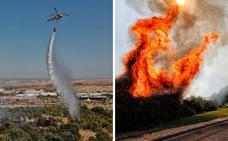 Tres incendios en una tarde en Cáceres