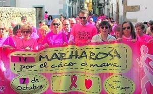 Centenares de personas en la marcha rosa de Jaraíz de la Vera