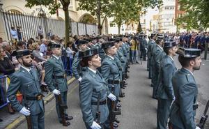 Extremadura ensalza la labor de la Guardia Civil en el día de su patrona