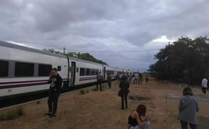 Una nueva avería del tren a Extremadura obliga a más de 100 pasajeros a esperar varias horas en medio del campo