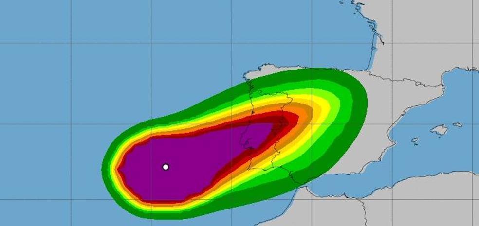 Leslie amenaza a Extremadura con vientos de 100 kilómetros por hora