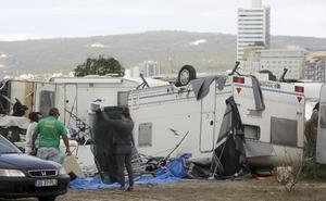 El ciclón 'Leslie' pierde intensidad en la región tras golpear Portugal