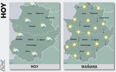 El sur y el este de Extremadura están hoy en alerta por fuertes lluvias
