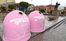 Contenedores rosas para 'Reciclar por ellas' en Plasencia