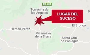 Un trabajador resulta herido al caer de un olivo en una finca cerca de Villanueva Sierra