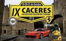 Un centenar de coches y motos de Ferrari se dan cita en Cáceres este fin de semana