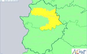 Parte de la provincia de Cáceres estará este sábado en aviso amarillo por lluvias