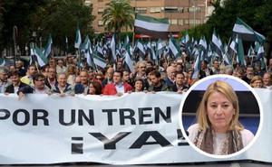 Nevado cree que no «tiene sentido» celebrar la manifestación del tren en Cáceres