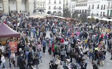 Nevado dice que «es imposible» que la manifestación del tren llegue a la Plaza Mayor porque coincide con el Mercado Medieval
