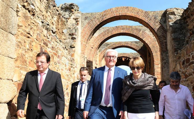 El presidente alemán descubre Extremadura