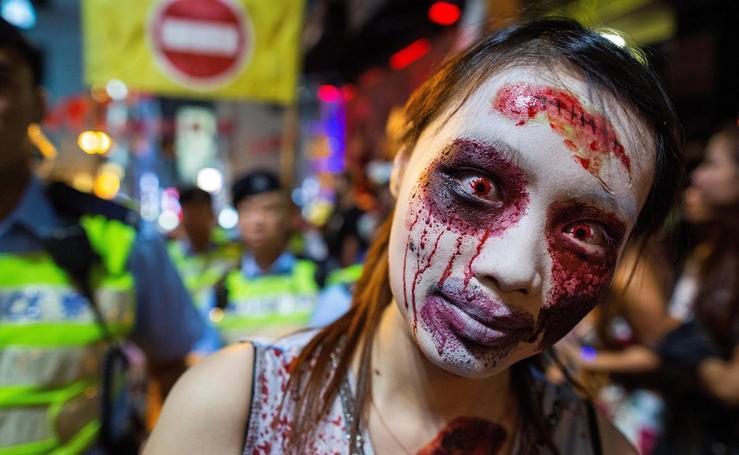 Celebraciones por Halloween en Hong Kong