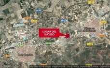 Herido con un trauma lumbar un hombre de 47 años al salirse de la vía en Villanueva de la Serena
