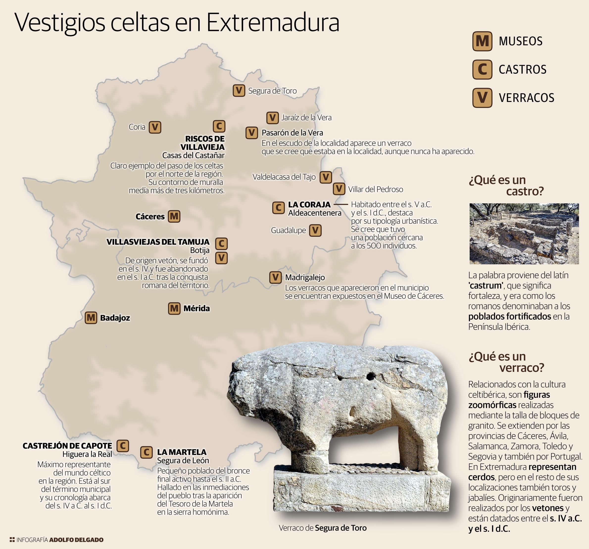 Vestigios celtas de Extremadura