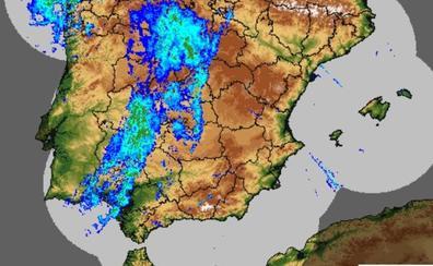 Madrigal de la Vera y Garganta la Olla, entre las localidades más lluviosas del país este lunes