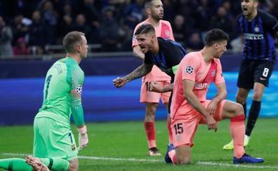 Un errático Barça se deja empatar ante el Inter