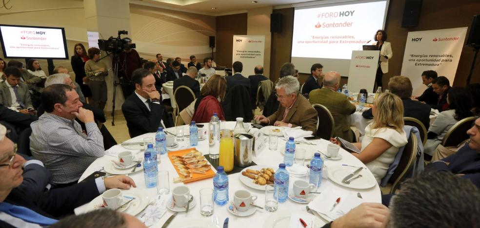 Extremadura aspira a generar el 20% de la energía renovable de España
