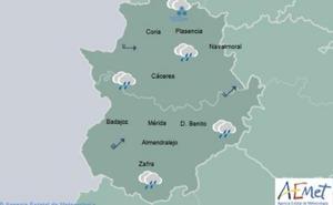 Un nuevo frente dejará precipitaciones este jueves en Extremadura
