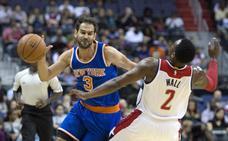 Dos rebotes de Calderón en el triunfo de los Pistons
