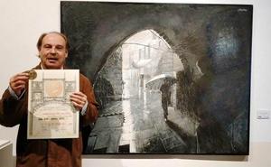 El pintor moralo Juan Núñez-Romero, premiado en el 85 Salón de Otoño en Madrid