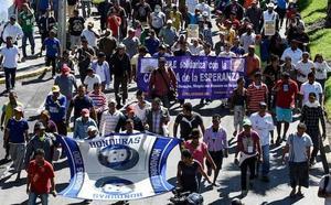 La caravana de migrantes acampa en Ciudad de México