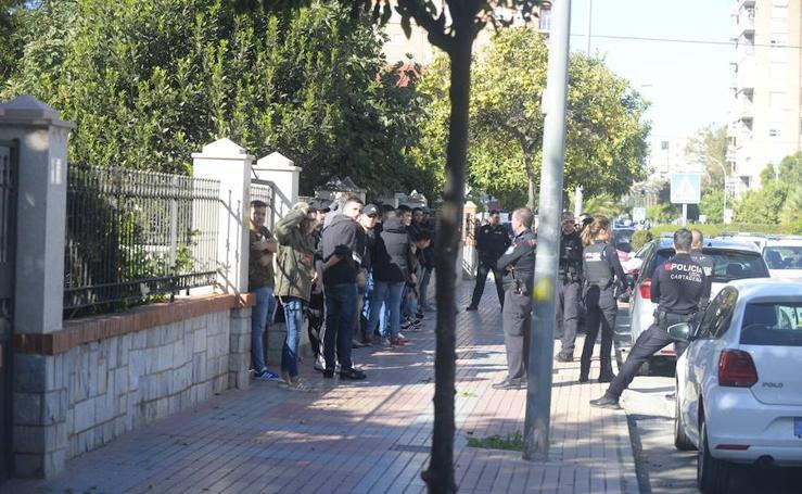 Retienen a 35 ultras del Badajoz tras asaltar un bar con peñistas del Cartagena