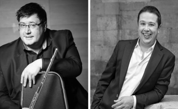 Dúo de flauta y piano con Álvaro Octavio Díaz y Antonio Ortiz
