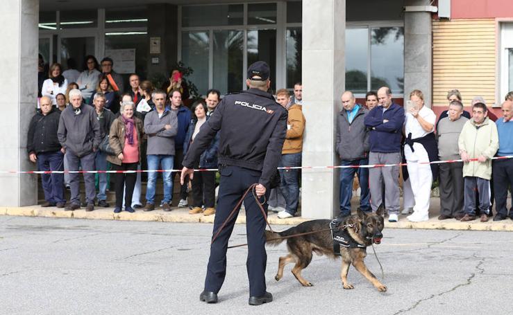 Demostraciones de la Policía Nacional con sus perros en Mérida
