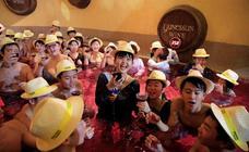Baño de vino en Japón