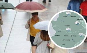 La Aemet prevé un domingo con precipitaciones generalizadas en Extremadura