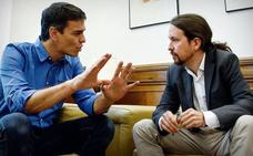 Pedro Sánchez choca con Pablo Iglesias por la duración de la legislatura si no hay Presupuestos
