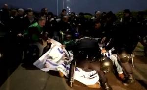 Tensión durante la huelga de los funcionarios de prisiones en Badajoz