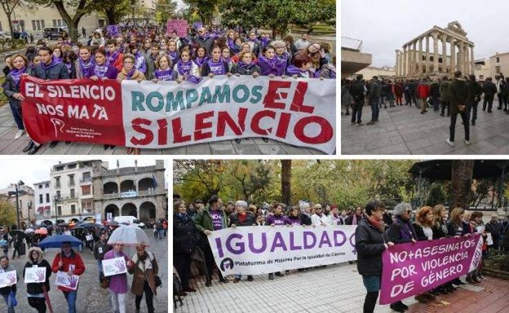 Extremadura grita 'Basta ya' y 'Ni una más'