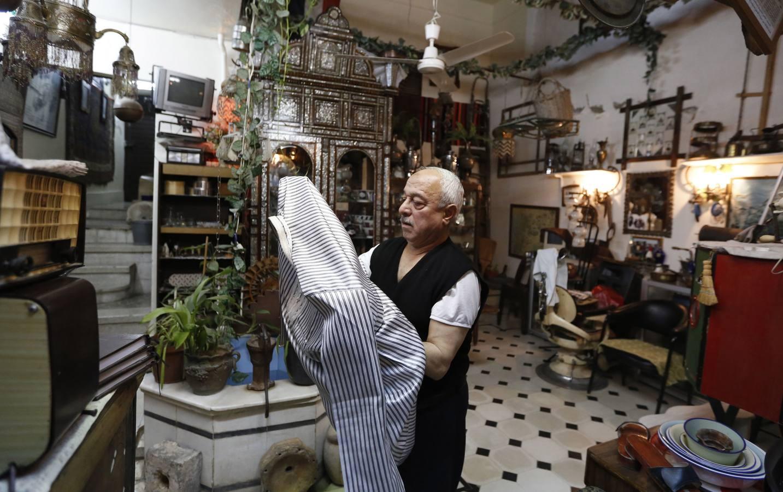 Museo de antigüedades en el barrio de al-Qanawat de Damasco