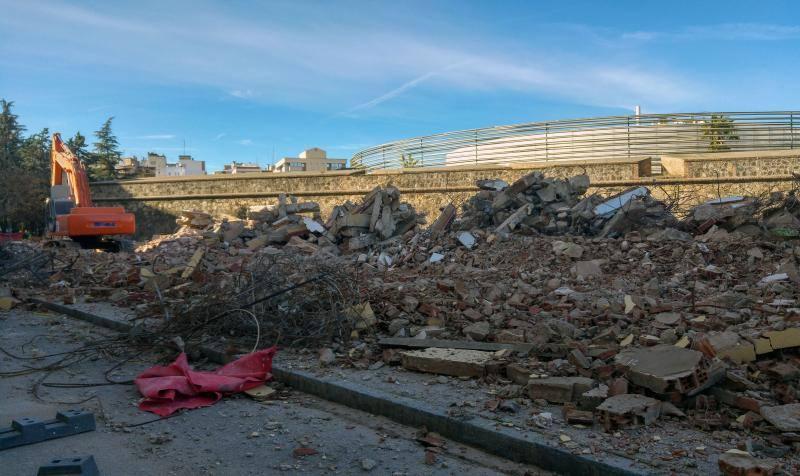 El antiguo colegio Nuestra Señora de Bótoa, reducido a escombros