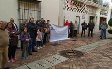 Protesta ciudadana contra la obra del mercado de abastos de Almendralejo