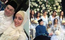 El rey malayo se casa con una miss
