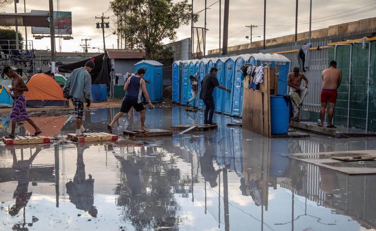 Las caravanas de migrantes cerca del punto crítico en el albergue de Tijuana