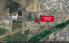 Herido un joven de 23 años en un accidente con una motocicleta en la avenida de Elvas de Badajoz