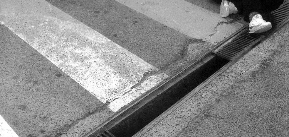 Una alcantarilla de Badajoz con trampa