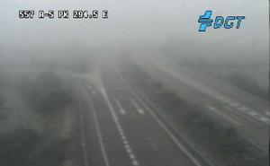 Avisos de la DGT por bancos de niebla en Extremadura