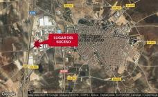 Herido grave un hombre de 47 años tras chocar un coche y una moto en Villafranca de los Barros