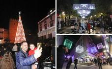 El centro de Cáceres se ilumina con un millón de puntos de luz