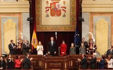 Felipe VI defiende la vigencia del gran pacto de convivencia de la Constitución
