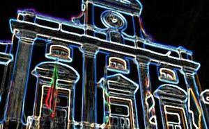 'Vídeo mapping' en la fachada del ayuntamiento de Mérida