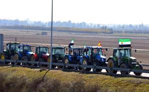 Los agricultores de Villanueva de la Serena anuncian otra tractorada de protesta para el lunes 17 de diciembre