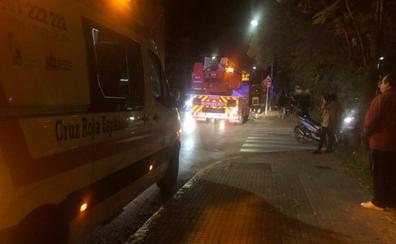 Una mujer de 84 años es atendida por ataque de ansiedad en un incendio en Badajoz