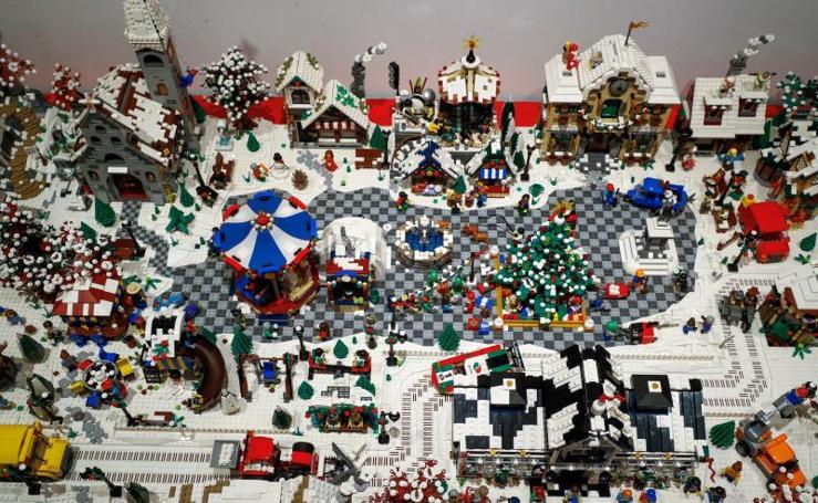 Un millón de piezas de Lego parar crear mundos en miniatura