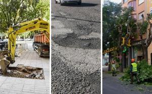 Arrancan las obras para cambiar tuberías, asfaltar y podar árboles en más de medio centenar de calles de Badajoz